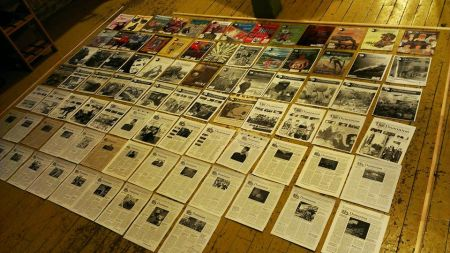 A decade of magazines. PHOTO: Tim McSorley.