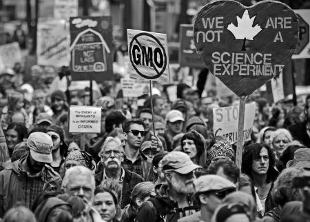 Marchers in Vancouver joined hundreds of thousands around the world in a march against agri-business and chemical giant Monsanto. PHOTO: D.M. Gillis