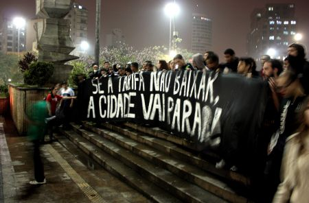 """If the fares don't go down, the city will shut down."" São Paolo. Photo by DFactory, CC2.0"