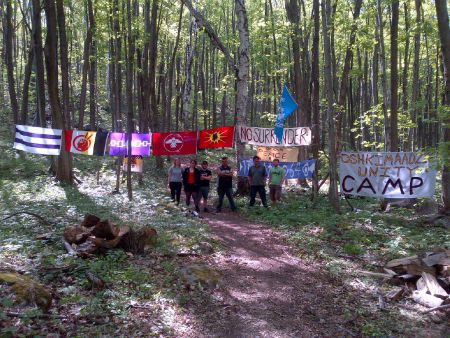 Entrance of ACTION (Anishinabek Confederacy to Invoke Our Nationhood) peace camp.
