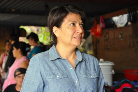 Yolanda Oquelí spoke out this week, for the first time since being shot over her activism against a local mine. PHOTO: Rachel Schmidt